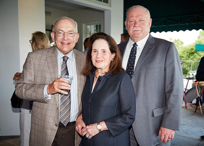 Harold Tananbaum, Vicki Leeds Tananbaum, ONSF Vice President and Norman Roth, President Greenwich Hospital
