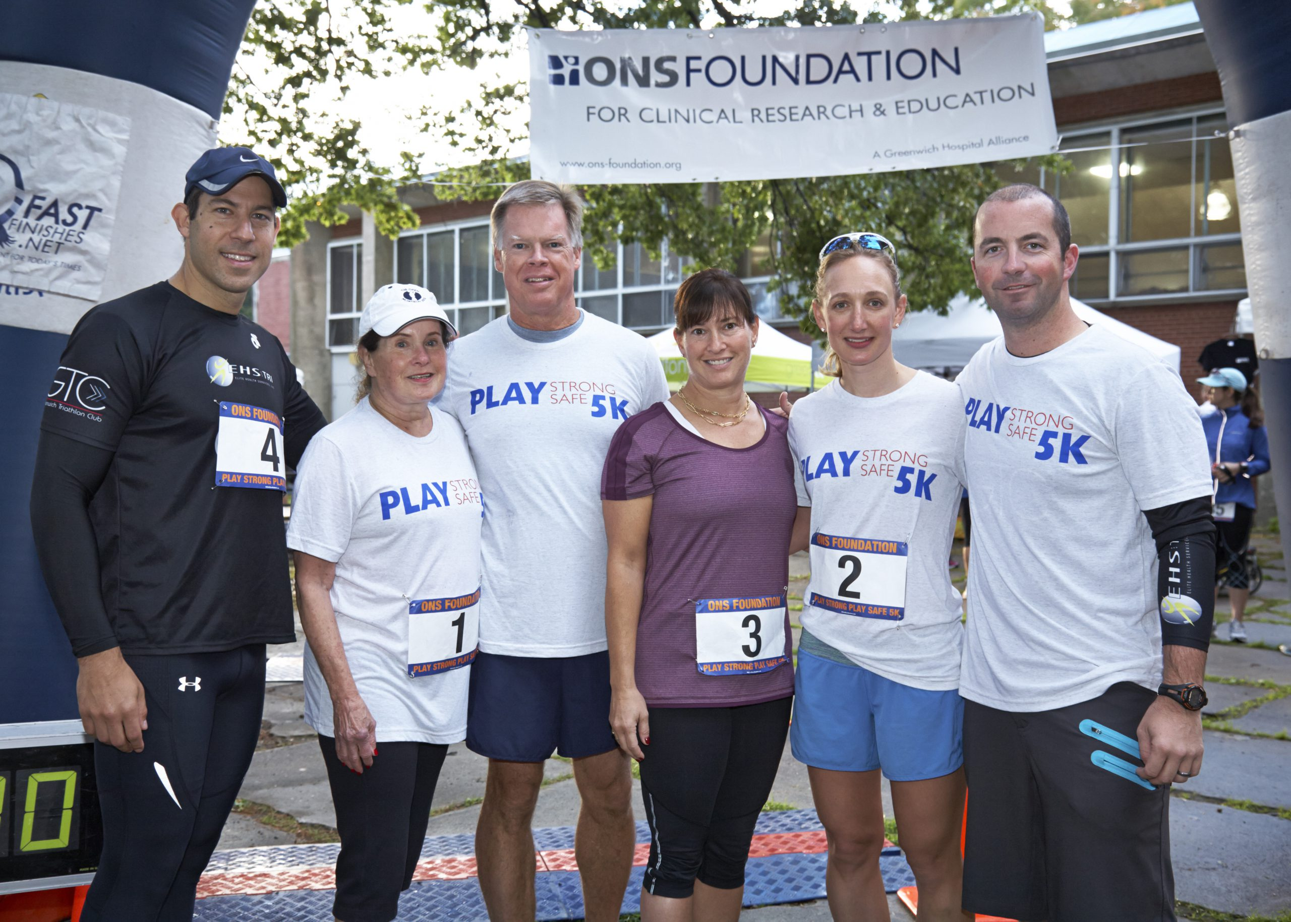 5K Committee L to R:<br>  Brad Gilden, DPT, Vicki Tananbaum,<br>Casey McKee, Co-Chair, Brenda Tananbaum, <br>Katie Vadasdi, MD, Co-Chair and Jon Stellwagen<br />