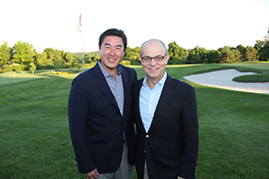 Dr. Michael Clain, Golf Outing Co-Chair and Dr. Ben Peng